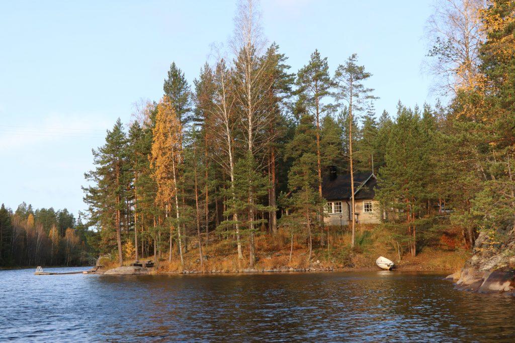 Lahukka autumn from lake